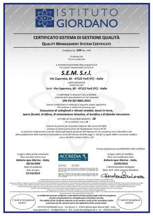 Certificato ISO 9000 qualità