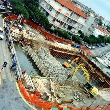 Demolizione ponte Paratoie - Porto Canale di Cervia (RA)